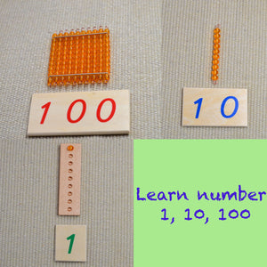 Math learning toy, learn number 1-100, math learning, number learning toy, Montessori math learning toy