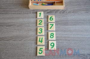 Montessori double digits learning place value math set