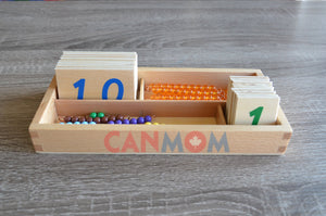 Open image in slideshow, Montessori double digits learning place value math set