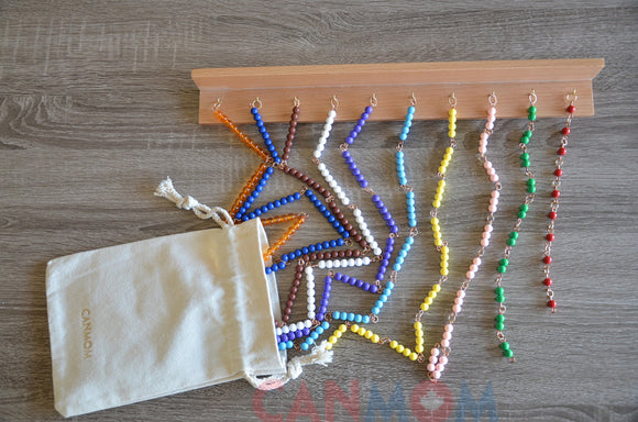 Montessori Multiplication toy / times table bead chains