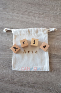 Personalized wooden name blocks / Preschooler learning puzzle / all natural wooden blocks