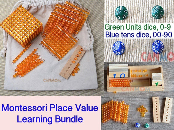 Montessori Math place value bundle / Montessori math toys / addition/ subtraction/ double digits / homeschool /  gift for children