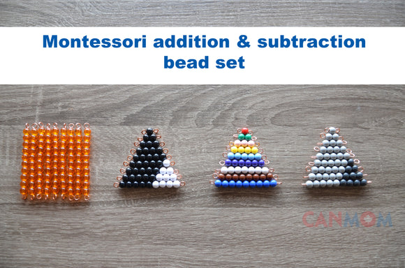 Montessori addition subtraction math snake game - style B