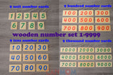 Number learning toy / Montessori golden bead math toys / homeschool / place value / learning toys / gift for children