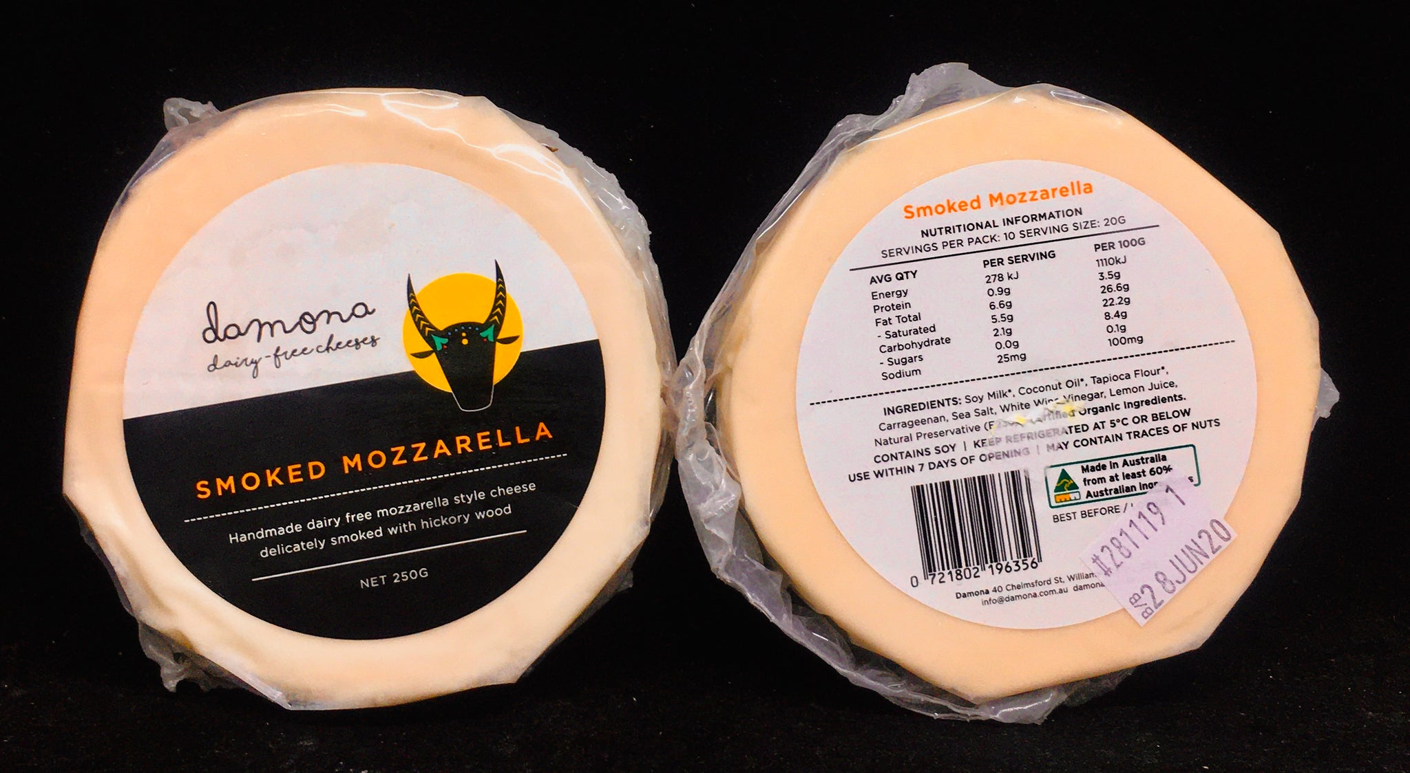 Damona Vegan Smoked Mozzarella