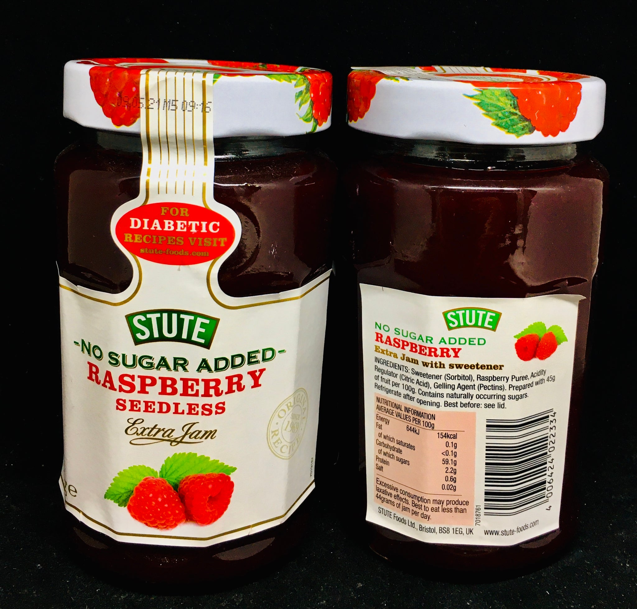 Stute Diabetic Jam - Raspberry - Seedless