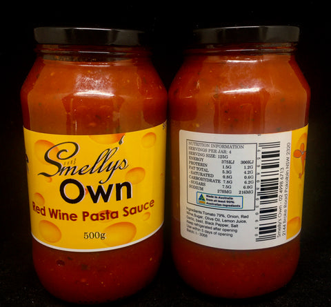 Smelly's Own - Red Wine Pasta Sauce