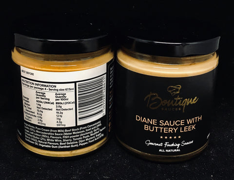 Boutique Sauces - Diane with Buttery Leek