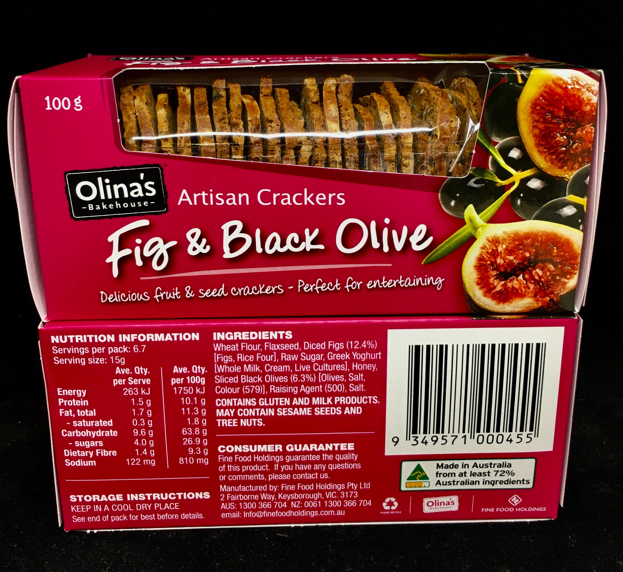 Fig & Black Olive Artisan Crackers