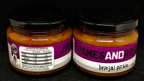 James and Rose Brinjal Pickle