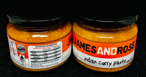 James and Rose Indian Curry Paste
