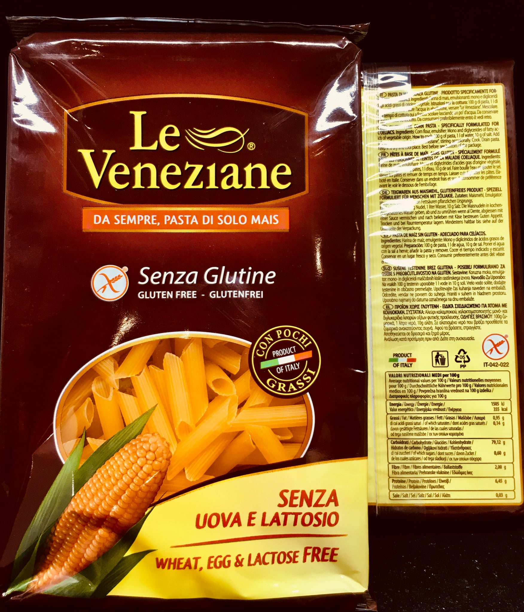 Le Veneziane Penne - Wheat, Egg and Lactose Free