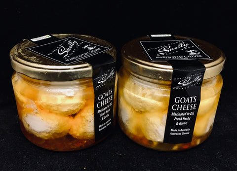 COVID-19 SALE - Smelly's Own - Goats Chevre Balls Marinated in Oil, Fresh Herbs & Garlic