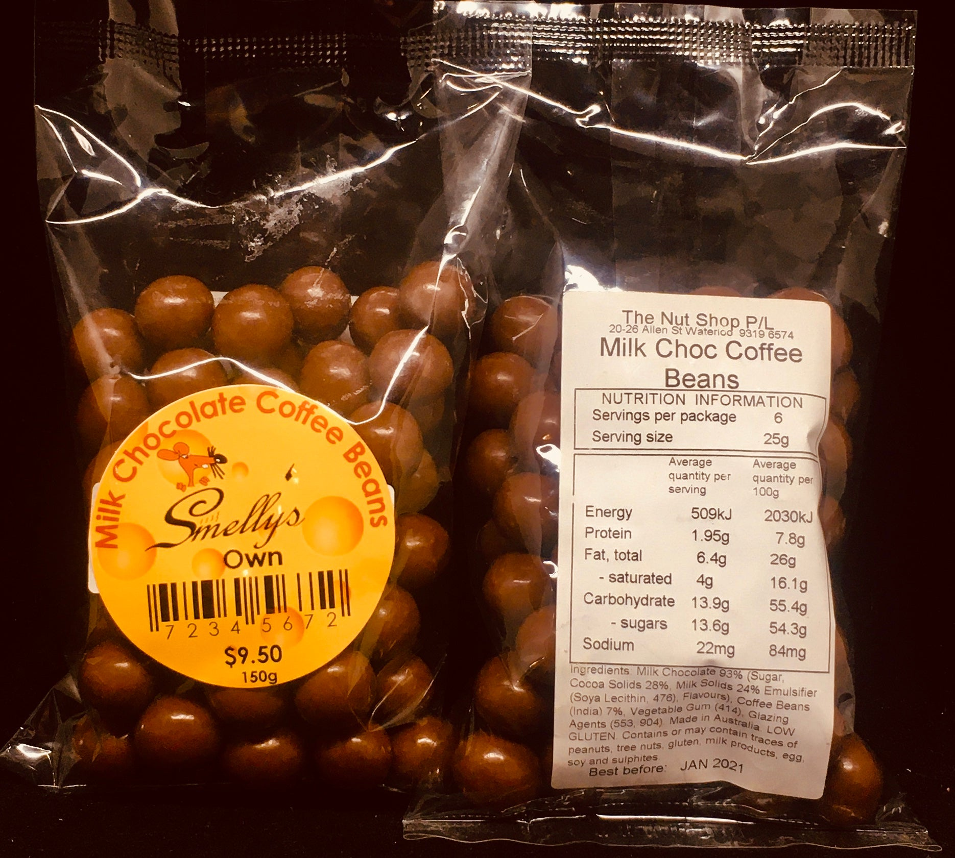 Smelly's Own - Milk Chocolate Coffee Beans