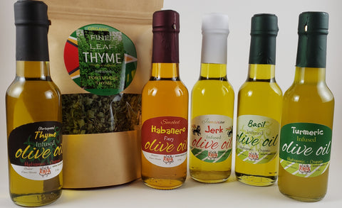 Flavored Infused Olive Oils and Herbs
