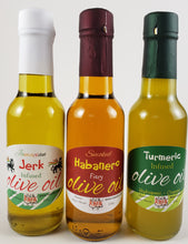 Load image into Gallery viewer, Great gift for that special person and those that have everything except this Caribbean Seasoning Collection Jamaican Jerk Seasoning Habanero Tumeric Oil Oil