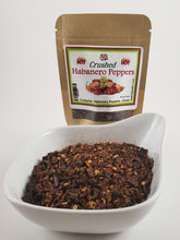 Load image into Gallery viewer, Habanero Chili Peppers Dried and Crushed enhanced flavor spicy hot
