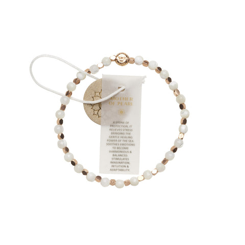 White Mother of Pearl Healing Bracelet