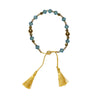 Swarovski Light Blue Crystal & Gold Hematite Healing Bracelet