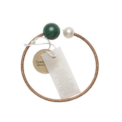 Pearl & Malachite Healing Bangle