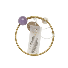 Pearl & Amethyst Healing Bangle