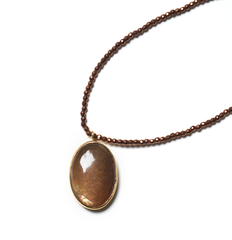 Sunstone pendant on copper Hematite healing necklace - SOLD OUT (Dec 4th, 953am)