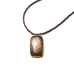 Sunstone pendant on copper Hematite healing necklace - SOLD OUT (Dec 4th, 232pm)