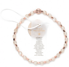 New: Peach Moonstone Healing Bracelet