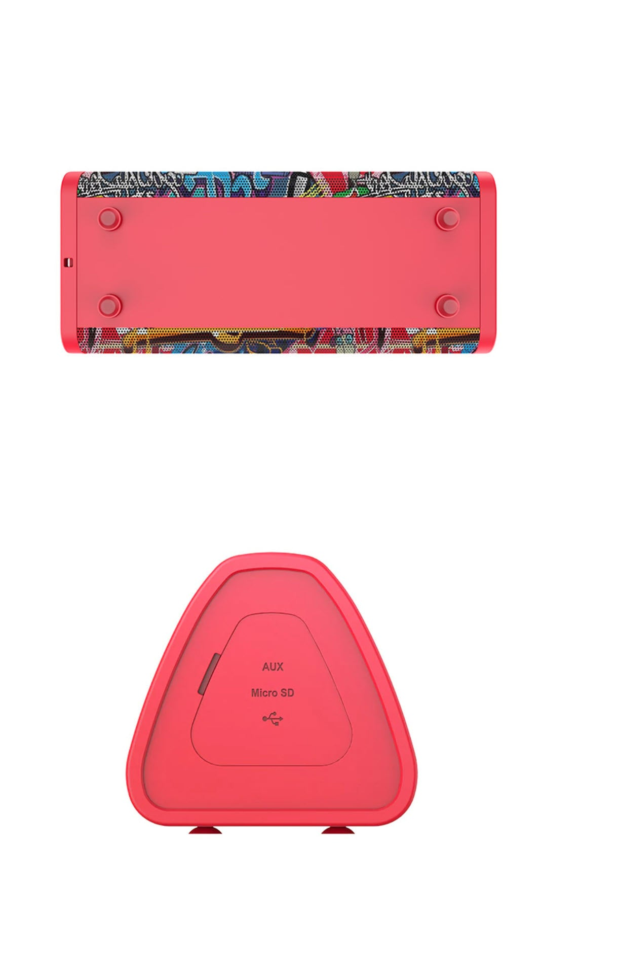 MIFA Red-Graffiti Bluetooth Speaker Product Images
