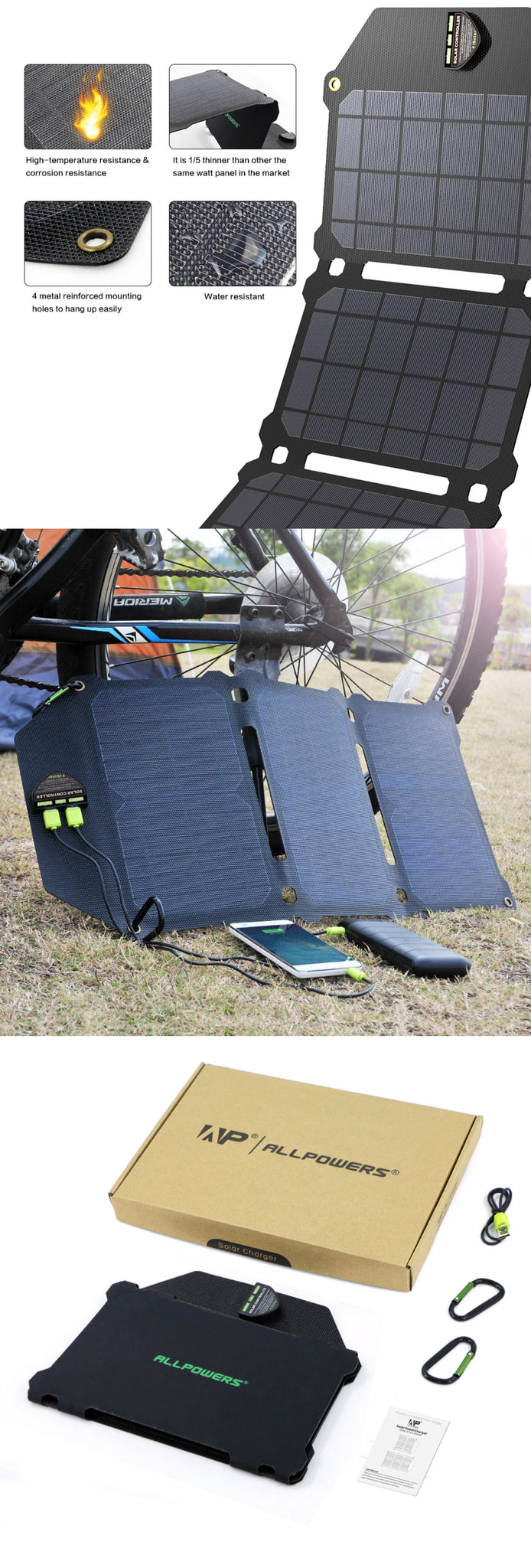 ALLPOWERS 21W Super Solar Charger Product Images