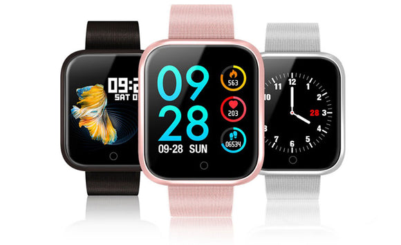 VERY FiTEK P70 Smartwatch Blood Pressure Heart Rate Monitor IP68 Waterproof for IOS Android - FuegoGear │ The Hottest Deals