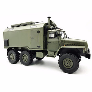 Truck Rock Crawler Command Communication Vehicle WPL B36 Ural 1/16 2.4G 6WD Radio RC RTR Toy Auto Army Truck Toy - FuegoGear │ The Hottest Deals