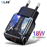 OLAF 18W Quick Charge 3.0 USB Charger QC 3.0 4.0 USB Plug Phone/Fast Charger Adapter - FuegoGear │ The Hottest Deals