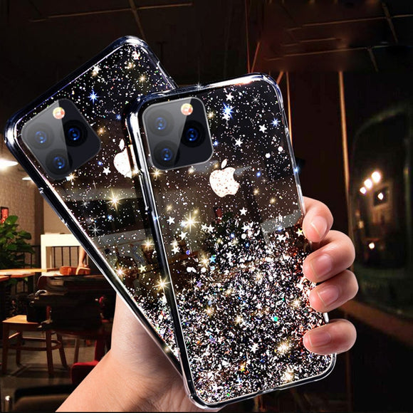 Luxury Bling and Glitter Non-Slip Silicone Phone Case for iPhone 11 Pro X XS Max XR Soft Silicone Cover For iPhone 7 8 6 6S Plus - FuegoGear │ The Hottest Deals