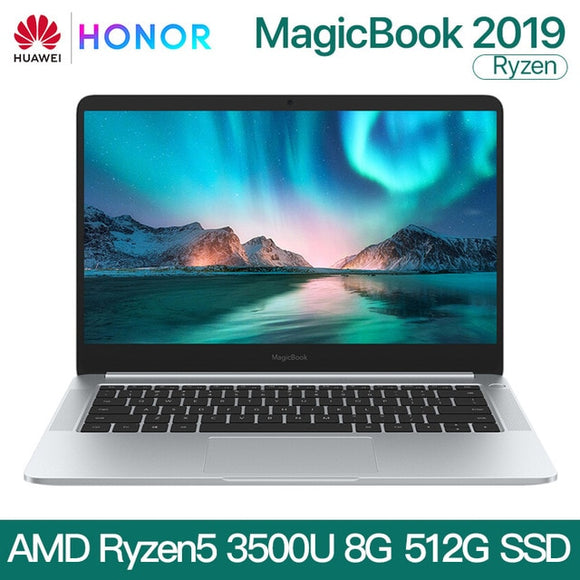 Powerful HUAWEI HONOR MagicBook 2019 Laptop Notebook Computer 14 inch AMD Ryzen 5 3500U 8G 256/512GB PCIE SSD FHD IPS - FuegoGear │ The Hottest Deals