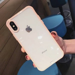 Clean and Stylish Lovebay Shockproof Bumper Transparent Silicone Phone Case For iPhone 11 Pro X XR XS Max 8 7 6 6S Plus - FuegoGear │ The Hottest Deals