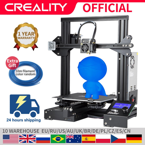 CREALITY 3D Printer Ender-3/Ender-3X Upgraded with Resume Power Failure, Printing Masks, DIY KIT, Hotbed, and Optional V-slot - FuegoGear │ The Hottest Deals