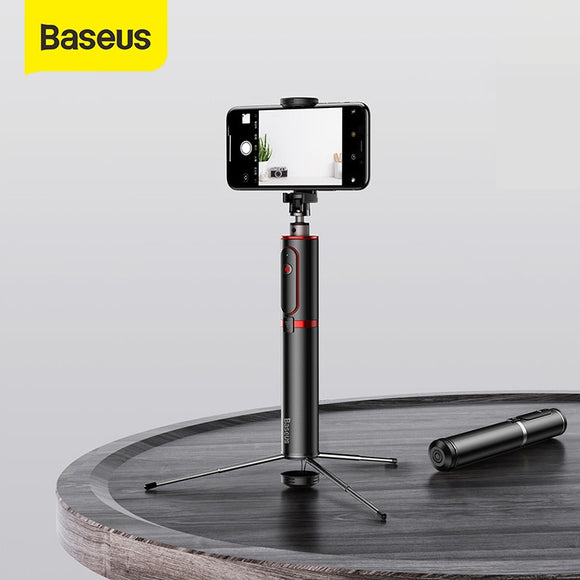 Amazing Baseus Bluetooth Selfie Stick Tripod with Wireless Remote for iPhone/Samsung/Huawei/Android - FuegoGear │ The Hottest Deals