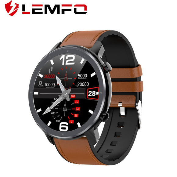 LEMFO L11 ECG and Heart Rate Blood Pressure Monitor 1.3 inch Full Screen Touch IP68 Waterproof for Android and iOS - FuegoGear │ The Hottest Deals