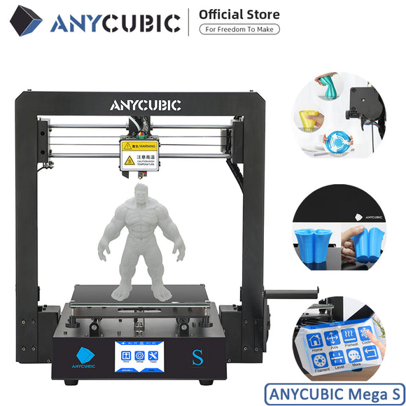 ANYCUBIC Mega-S 3D Printer I3 with Mega Upgrade Large Size, Metal Frame, TPU High Precision Touch Screen, and DIY 3D Printer Kit - FuegoGear │ The Hottest Deals