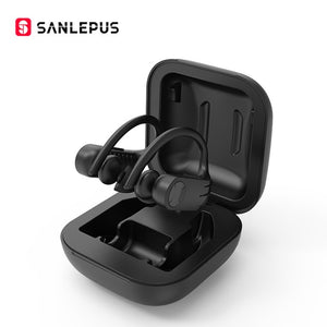 SANLEPUS B1 Bluetooth Wireless Headphones LED Display TWS Stereo Waterproof and Noise Cancelling with Mic