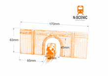 Load image into Gallery viewer, N Gauge Single Track Tunnel Portal - BRICK