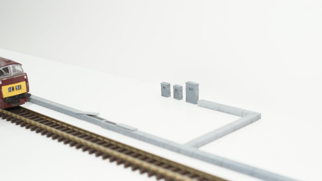 N Gauge Cable Trunking Line Side