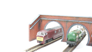 N Gauge Twin Tunnel Portals Style 2