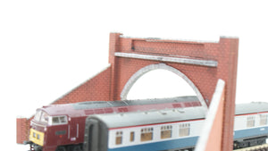 N Gauge Dual Track Tunnel Portal Style 1