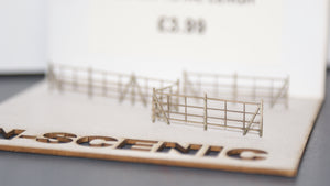 N Gauge Wooden Style Old Farm Fencing