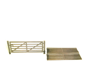 N Gauge Farm Gate Plus Cattle Grids  16 Gates Per Pack
