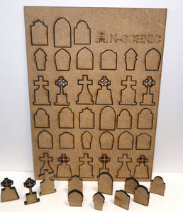 OO Gravestones Kit Pack of 33