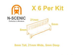 N Gauge Resin Bench Kit x 6