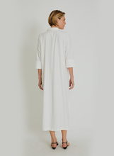 Load image into Gallery viewer, Utilitarian Pocket Shirt Dress 14758 Off White Lenny V21